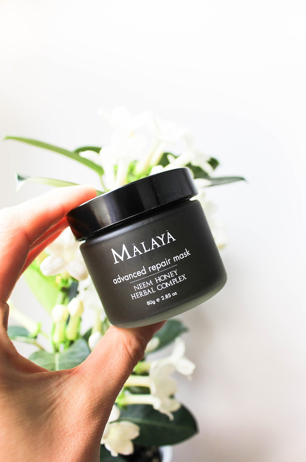 Malaya Organics Advanced Repair Mask Neem Honey Herbal Complex. Detoxifying, moisturizing, brightening, softening.