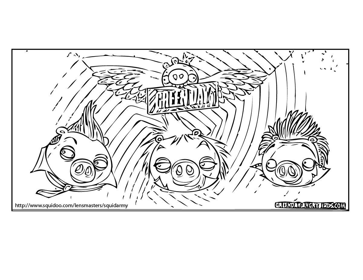 Angry Birds Coloring Pages Squid Army