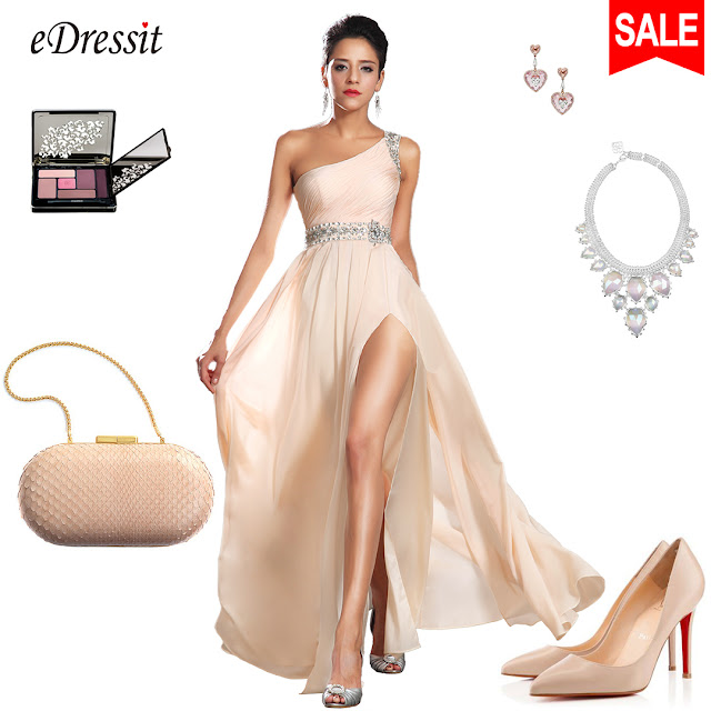 New Arrival Elegant One Shoulder Evening Dress