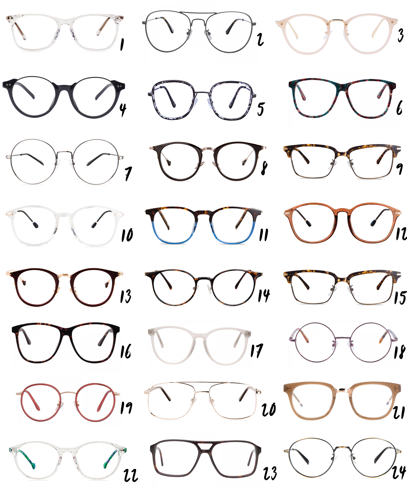 24 trendy prescription glasses under £50