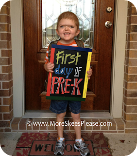 Aiden, first day of Pre-K