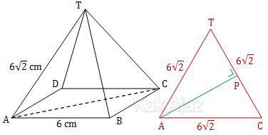 Jarak titik A ke garis TC pada limas T.ABCD, soal dimensi tiga UN 2017