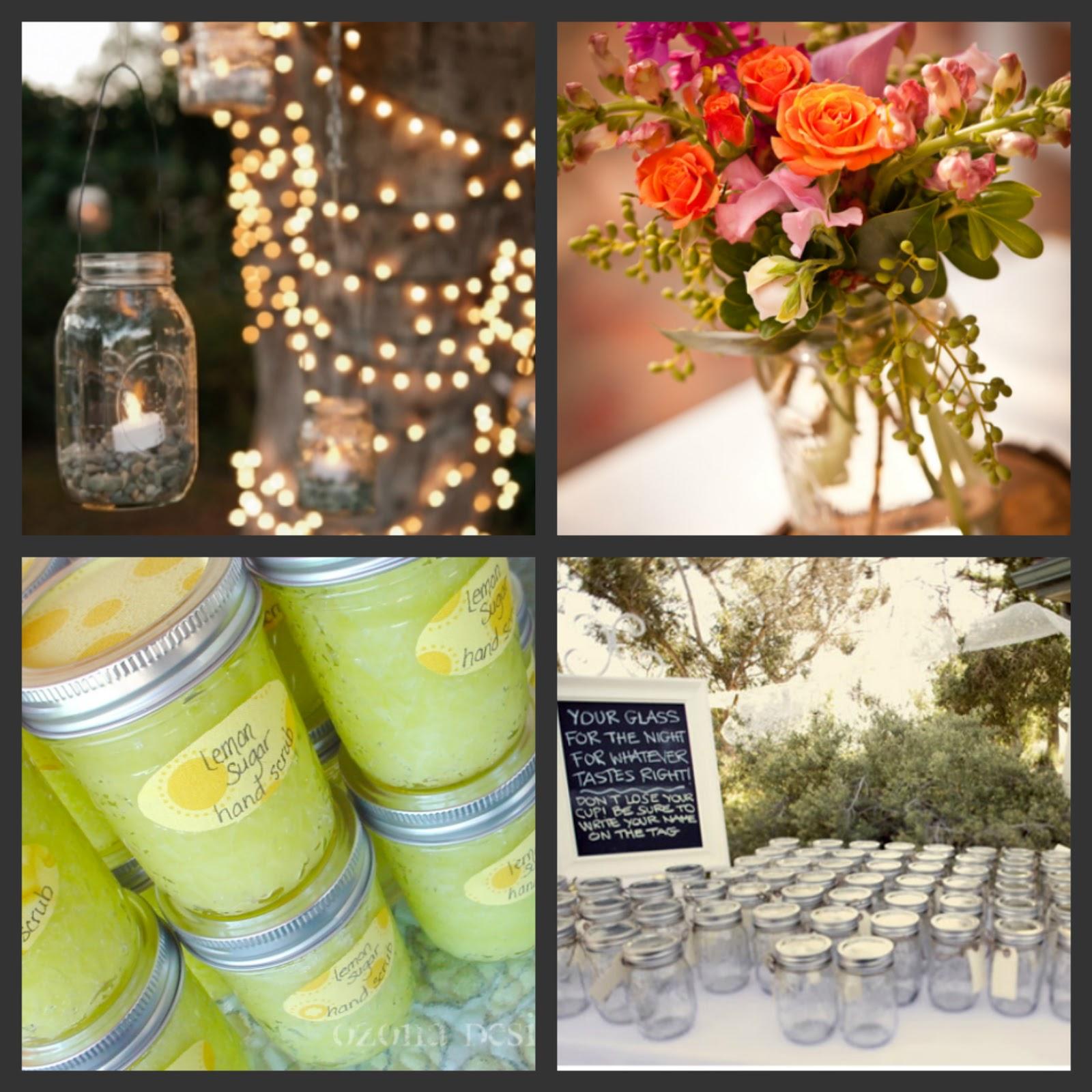 Southern Wedding Ideas Using Mason Jars: Weddings Are Fun Blog: Creative Ways To Use Mason Jars For