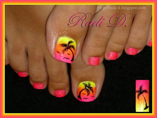 Nails Summer Toes