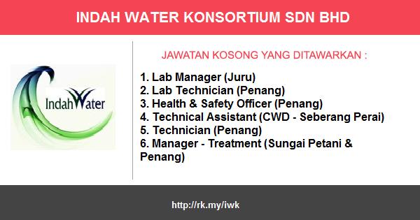 Jawatan Kosong di Indah Water Konsortium Sdn. Bhd.