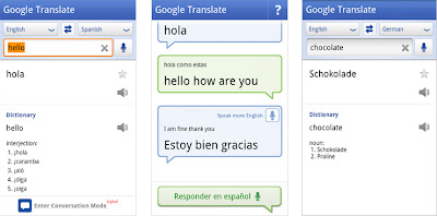 Google Translate for Android Speech