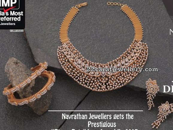 Diamond Choker Bangles by Navrathan
