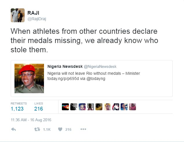 LMAO! Nigerians have no chill for Sports minister Solomon Dalung