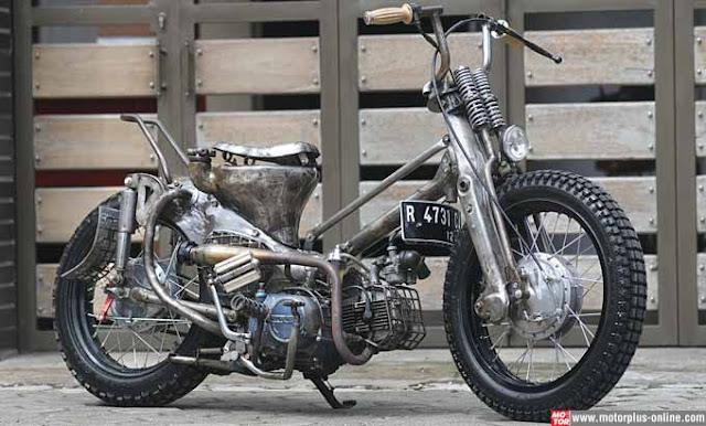 Modifikasi Motor Honda C70 dengan Konsep RAT Bike