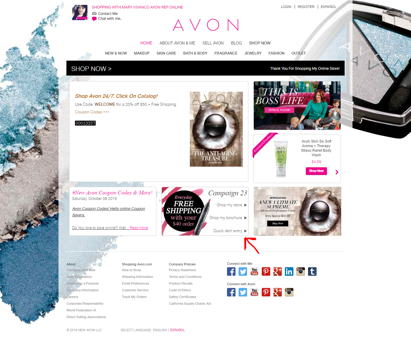 how to back order avon brochures