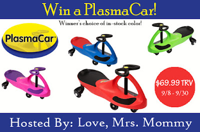 Enter the PlasmaCar Giveaway. Ends 9/30 Cont US / CA