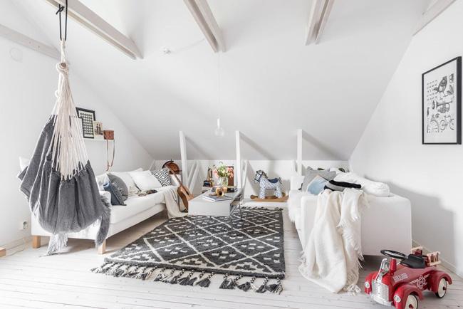 Pequeño salón estilo nórdico-escandinavo