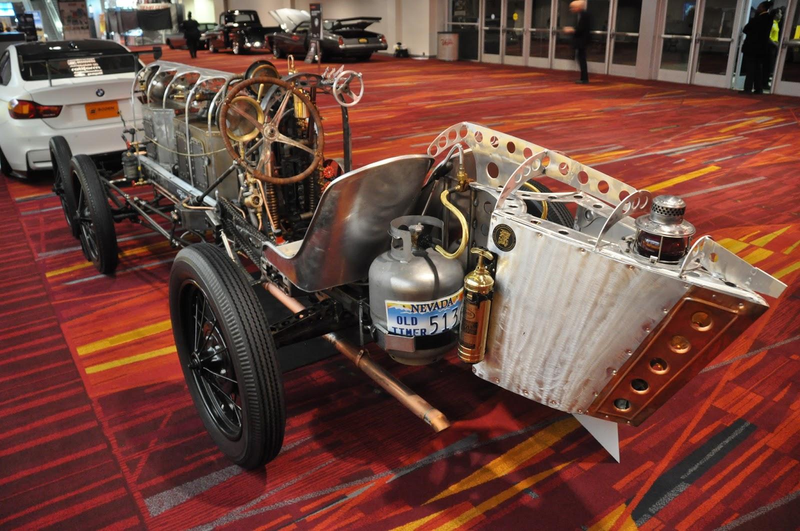 Wheel Steam Powered Car Sema