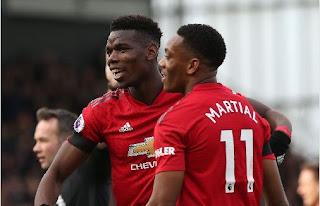 Pogba dan Martial Antar Manchester United Tembus Posisi Empat Besa Klasemen