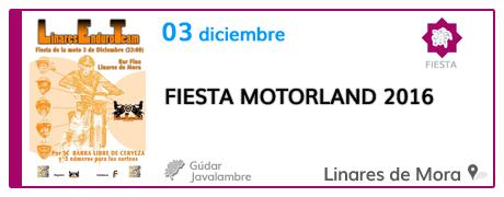 Fiesta MotorLand 2016 en Linares de Mora