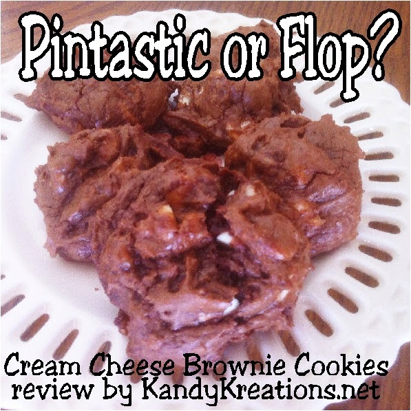"Have you tried a pin from one of your Pinterest boards and found it Pintastic or a flop for the average mom? I'm making these Cream Cheese Brownie Cookies from my Cookie Recipe pin board and giving you the ""what for"" on whether they are going into my recipe book or being deleted from my boards!"