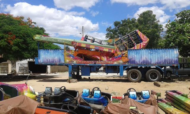 Parque  de diversões chega em Olho D'Água do Casado para a festa do Padroeiro.