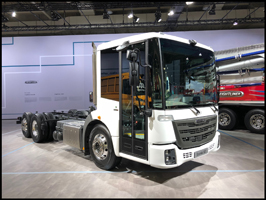The Freightliner EconicSD vocational refuse vehicle on display at the IAA