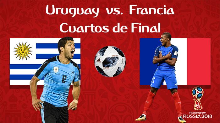 Uruguay vs. Francia - En Vivo - Online - Cuartos de Final - Rusia 2018