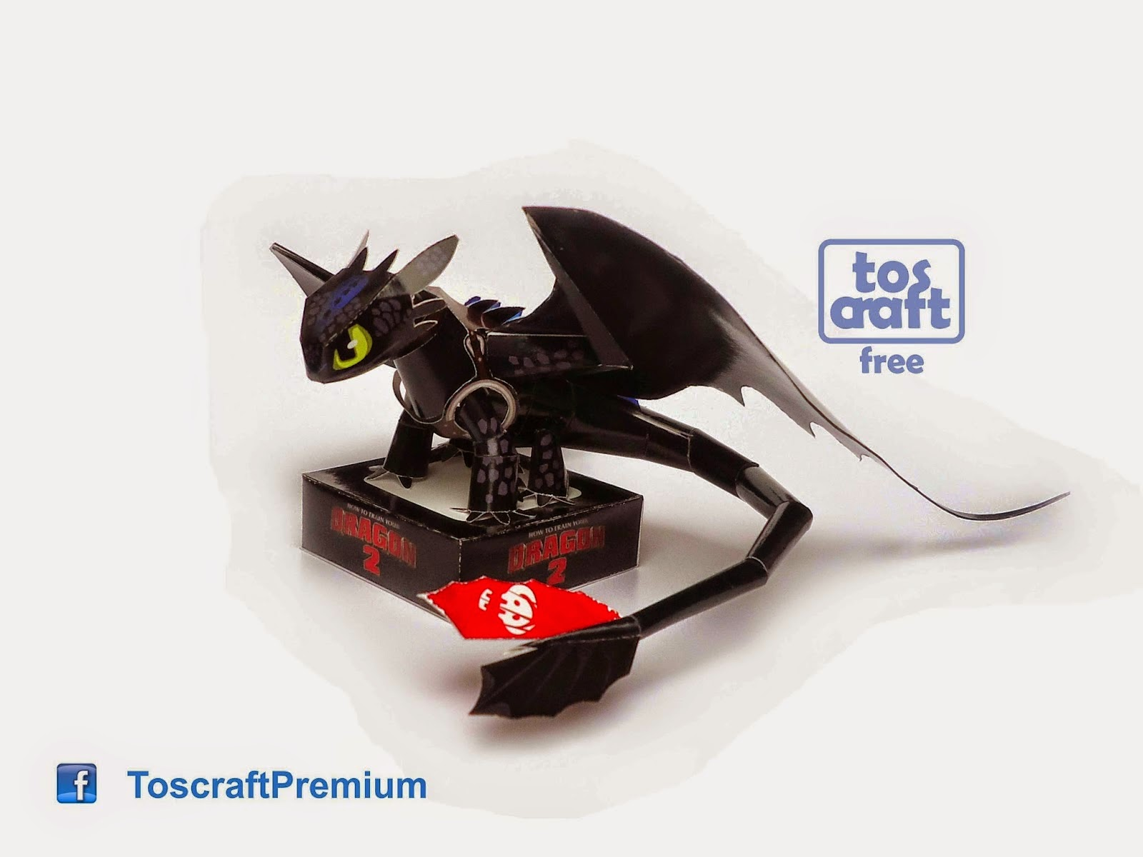 How to Train Your Dragon 2 - Toothless Papercraft ... - photo#14