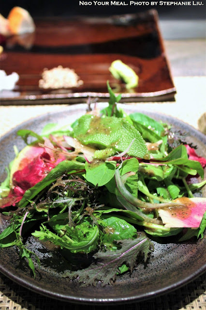 Salad at Mouriya Honten in Kobe, Japan