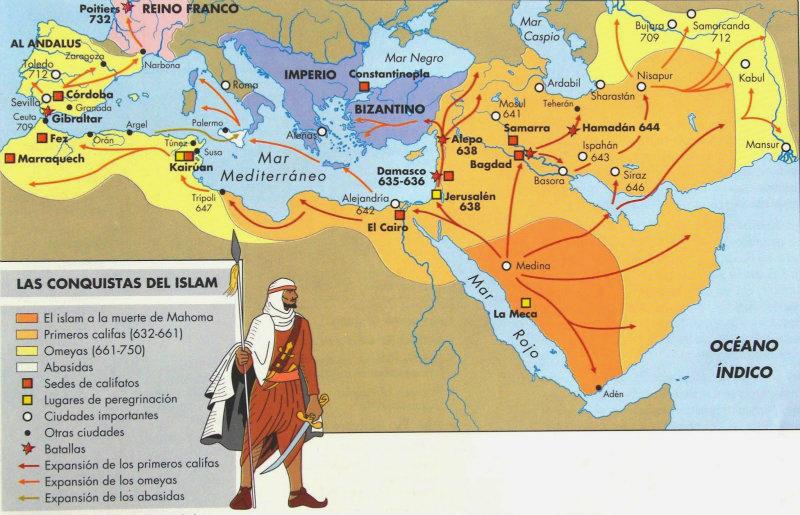 Expansión de los Musulmanes (Corán, Mahoma, la Guerra Santa)