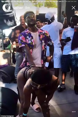 Reality star Alexis Sky pictured rubbing her booty on married Usher