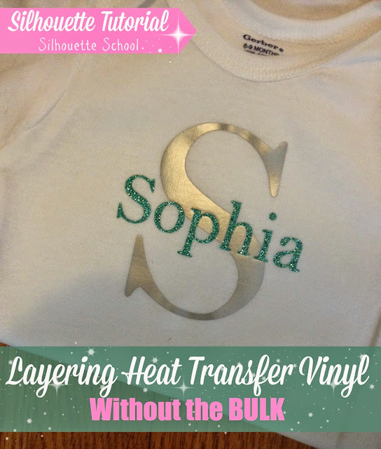 Layering HTV, heat transfer vinyl, without bulk, Silhouette tutorial, Silhouette Studio