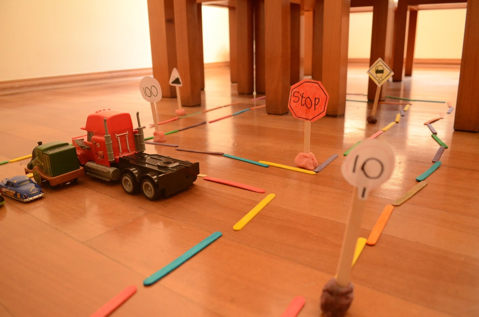 Keep Kids Busy with Craft Stick Tracks, by Practical Mom