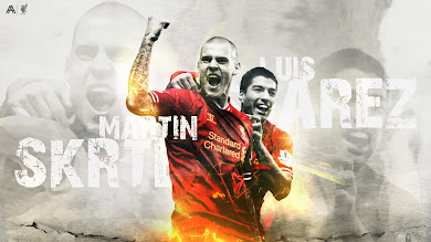 Martin Skrtel and Luis Suarez