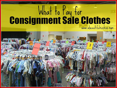 how to price clothes for a consignment sale