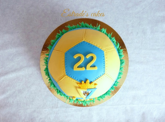 Tarta balón del Cádiz CF 5