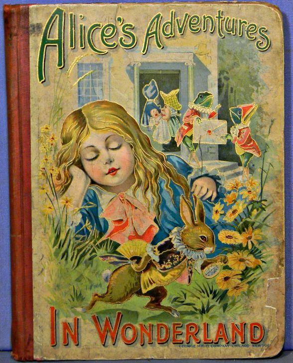 Vintage Children S Book Cover Prints : Vintage alice in wonderland book cover