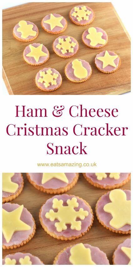 Ham & Cheese Christmas Cracker Snack