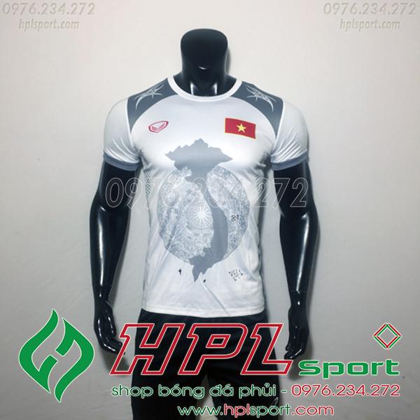 Áo bóng đá đội tuyển Việt Nam bản đồ trắng 2019