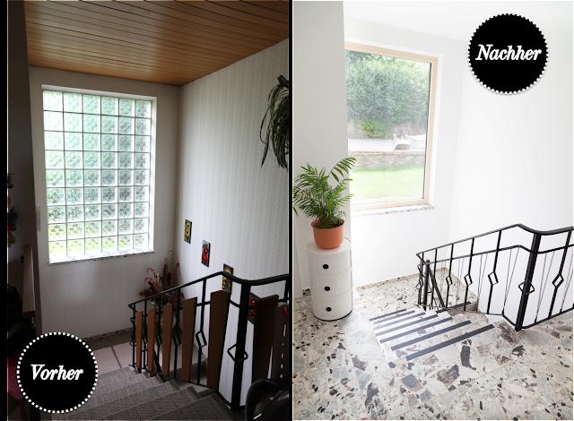 vorher nachher unser treppenhaus mit terrrrrrrrrrrrazzo. Black Bedroom Furniture Sets. Home Design Ideas
