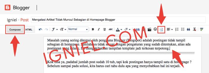 Fungsi Jump Break di Blogspot