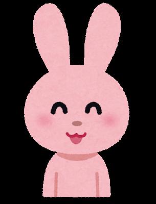 笑顔のうさぎのキャラクター