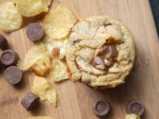 Road Trip Chocolate Chip Cookies {with Rolos + Potato Chips}