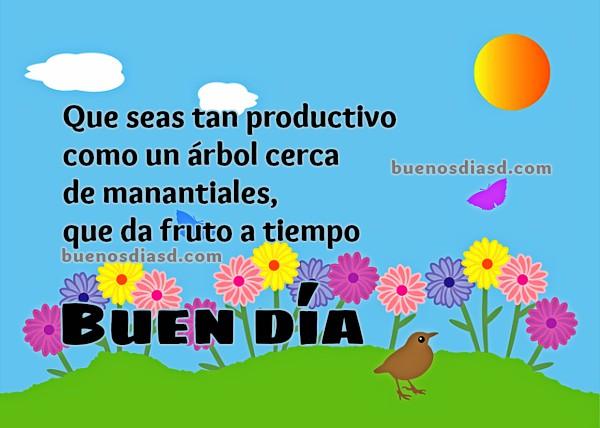 imagen Buenos Días, te deseo un día productivo y de éxitos