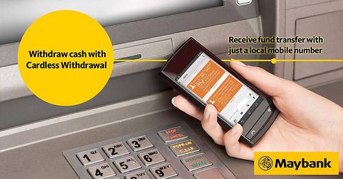 Cara Membuat Pengeluaran Duit Tanpa Kad (Cardless Withdraw) di mesin ATM Maybank