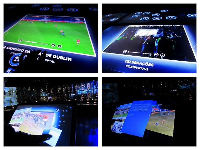 Paineis interativos do Museu do FC Porto