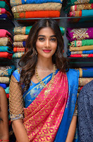 Puja Hegde looks stunning in Red saree at launch of Anutex shopping mall ~ Celebrities Galleries 061.JPG