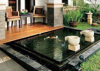 kolam ikan minimalis lahan sempit, kolam ikan minimalis depan rumah, kolam ikan minimalis lahasempit depan rumah