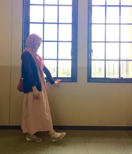 日本人ムスリマの日常生活の中でのおしゃれヒジャブ