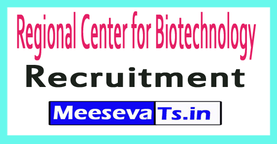 Regional Center for Biotechnology RCB Recruitment
