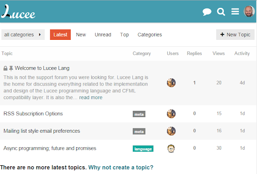 Lucee has a new forum expressly for discussing language features