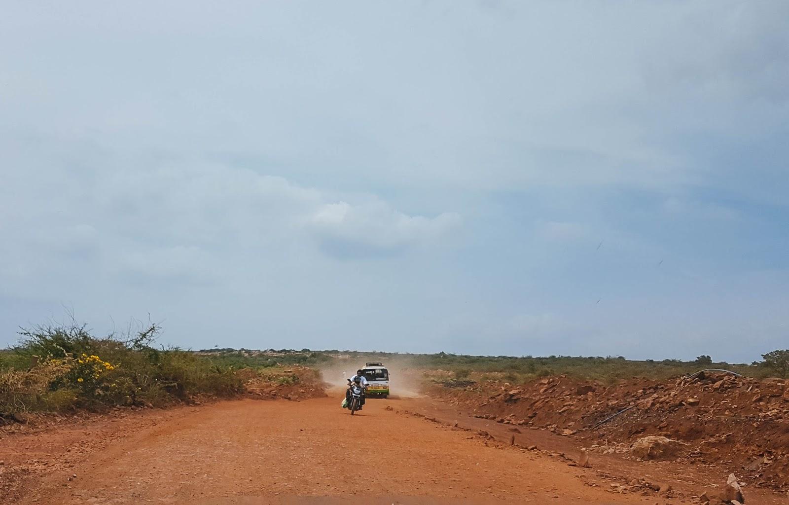 Bad roads in Kadappa