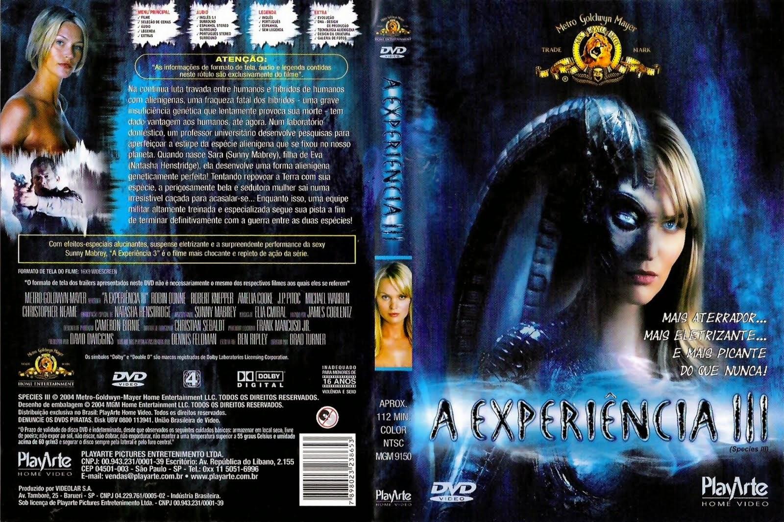 A Experiência 3 DVD Capa
