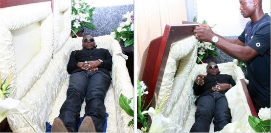charly boy sleeping in coffin